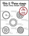 Crealies Clear Stamp Bits & Pieces Gear Small OutlineCLBP212
