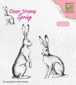 Nellie Snellen Clear Stamp Spring Two Hares SPCS014