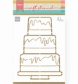 Marianne Design Stencil Party Cake by Marleen PS8057