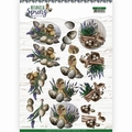 Amy Design knipvel Botanical Spring - Happy Ducks CD11469