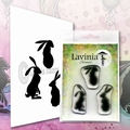 Lavinia Clear Stamp Wild Hares Set LAV608