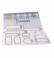 Marianne Design clear stamp Banners by Marleen CS1058
