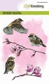 Craft Emotions Clear Stamp Garden Birds Sparrow 130501/1327