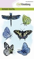 Craft Emotions Clear Stamp Butterflies 130501/1323