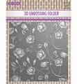 Nellie Snellen 3D Embossing Folder Roses EF3D011