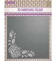 Nellie Snellen 3D Embossing Folder Rose Corner EF3D012