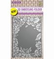 Nellie Snellen 3D Embossing Folder Flower Frame EF3D009