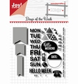 Joy! Crafts Clear Stamp+Snijmal Days of the Week 6004/0036