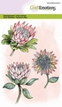 Craft Emotions Clear Stamp Protea Flower 130501/1324