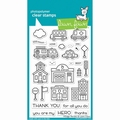 Lawn Fawn Clear Stamp Village Heroes LF2327