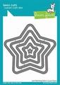 Lawn Fawn Snijmal Just Stitching Stars LF2362