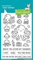Lawn Fawn Clear Stamp Ocean Shell-Fie LF2329