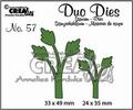 Crealies Duo Dies nr. 57 Bladeren CLDD57