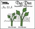 Crealies Duo Dies nr. 57A Bladeren CLDD57A