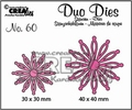 Crealies Duo Dies nr. 60 Open Flowers CLDD60