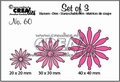 Crealies Set of Three nummer 60 Solid Flowers CLSET60
