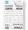 Marianne Design clear stamp Super - Mega - Kei onwijs CS1066