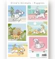 Marianne Design Knipvel Eline's Animals Puppies AK0079