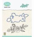 Nellie Snellen Stamps & Dies Flowers - Rose HDCS006