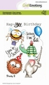 Craft Emotions Clear Stamp Party 2   130501/1690