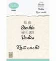 Nellie Snellen Clear Stamp Dutch Texts Condolence DCTCS001