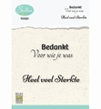 Nellie Snellen Clear Stamp Dutch Texts Condolence DCTCS004