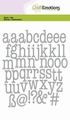 Craft Emotions Snijmal Lowercase Alphabet 115633/0525
