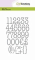 Craft Emotions Snijmal Typewriter Numbers 115633/0526
