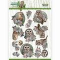 Amy Design knipvel Amazing Owls - Romantic Owls CD11566