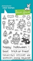 Lawn Fawn Clear Stamp Fox Costumes Before 'n After LF2401