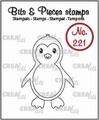 Crealies Clear Stamp Bits & Pieces Penguin CLBP221