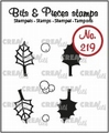 Crealies Clear Stamp Bits & Pieces Holly Leaves CLBP219