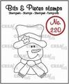 Crealies Clear Stamp Bits & Pieces Snowman CLBP220