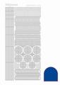Hobbydots Sticker - Mirror - Blue STDM06A per vel