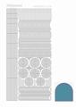 Hobbydots Sticker - Mirror - Turquoise STDM06D per vel