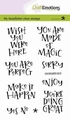 Craft Emotions Clear Stamp Handletter - Wish you 130501/2205