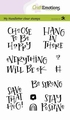 Craft Emotions Clear Stamp Handletter Choose to 130501/2204