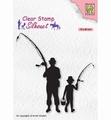 Nellie Snellen Silhouette Clear Stamp Fishermen SIL073