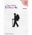 Nellie Snellen Silhouette Clear Stamp Backpacker SIL067