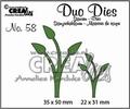 Crealies Duo Dies nr. 58 Leaves CLDD58