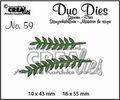 Crealies Duo Dies nr. 59 Leaves CLDD59