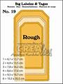 Crealies Big Labelzz & Tagzz nr. 19 Rough Edges CLBLT19