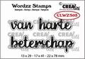 Crealies Clear Stamp Wordzz Van hart Beterschap CLWZS03