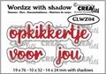 Crealies Tekstmal Wordzz Opkikkertje - Voor Jou CLWZ04
