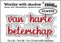 Crealies Tekstmal Wordzz Van Harte Beterschap CLWZ03