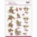 Precious Marieke knipvel Pretty Flowers-Red Flowers CD11580
