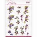 Precious Marieke knipvel Pretty Flowers-Purple FlowerCD11579