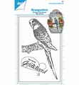 Joy! Crafts Clear Stamp Grasparkiet 6410/0536