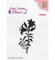 Nellie Snellen Silhouette Clear Stamp Lily SIL078