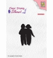 Nellie Snellen Silhouette Clear Stamp Close Friends SIL075